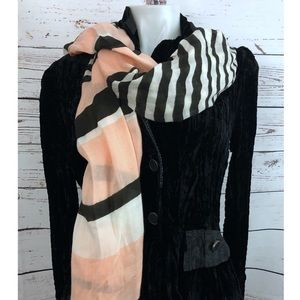 Vince Camuto Striped Wrap Scarf